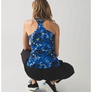 Lululemon Cool Racerback Windy Blooms Saphire Blue